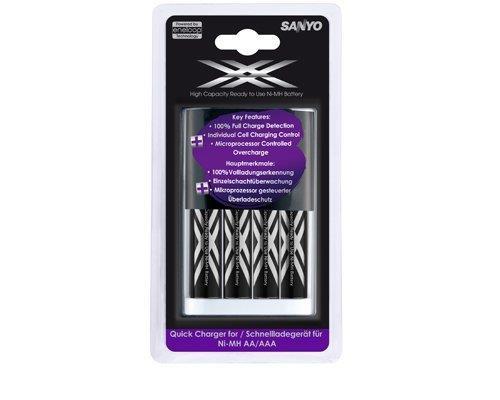 מטען מהיר Sanyo + סוללות Eneloop 2500