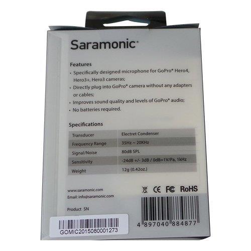 Saramonic GoMic מיקרופון למצלמות GoPro