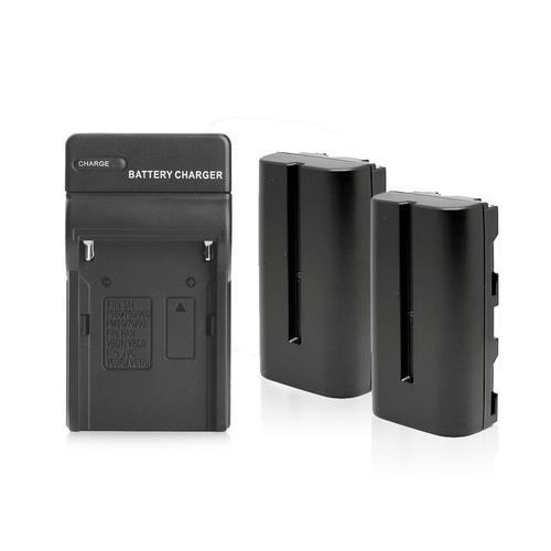 קיט 2 סוללות חליפיות Sony NP-F550 / 570 + מטען חליפי