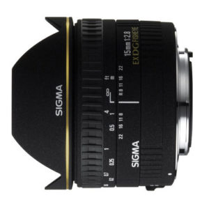 עדשה Sigma 15mm f/2.8 EX DG DIAGONAL Fisheye למצלמות Nikon