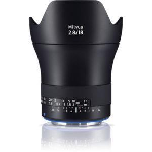 עדשה Zeiss Milvus 18mm f/2.8 ZE למצלמות Canon