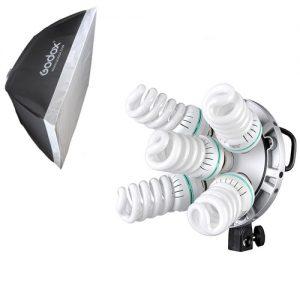 תאורה קבועה ל-5 נורות כולל סופטבוקס Godox TL-5K with 60X60cm softbox