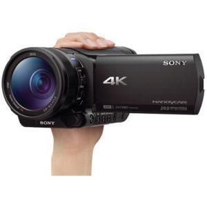 מצלמת וידאו מקצועית Sony FDR-AX100E 4K Ultra HD Camcorder