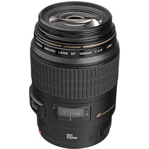 עדשה Canon EF 100mm f/2.8 Macro USM