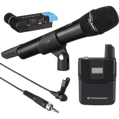 מערכת מיקרופון אלחוטית דיגיטלית למצלמה Sennheiser AVX-Combo SET
