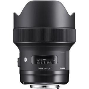 עדשה Sigma 14mm f/1.8 DG HSM Art למצלמות Nikon