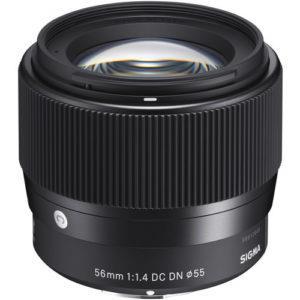 עדשה Sigma 56mm f/1.4 DC DN למצלמות Sony
