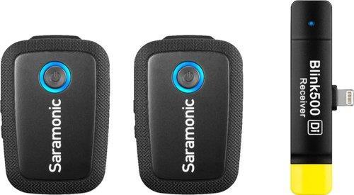ערכת 2 משדרים ומקלט אלחוטיים למכשירי iOS אייפון / אייפוד SaramonicBlink500 B4