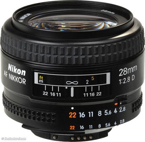 עדשה Nikon AF NIKKOR 28mm f/2.8D