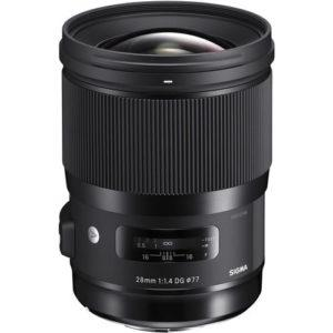עדשה Sigma 28mm f/1.4 DG HSM Art Lens for Sony