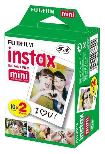 """נייר צילום למצלמות Instax Mini ISO 800 תמונות עשירות בצבע וחדות פיתוח מהיר גודל הסרט 86X54 מ""""מ גודל התמונה 62X46 מ""""מ"""