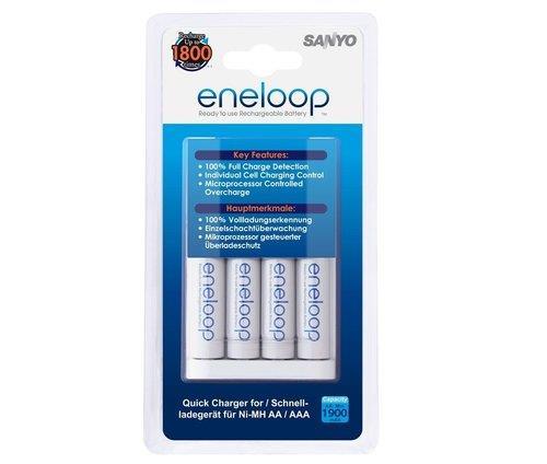 מטען Sanyo + סוללות Eneloop 1900