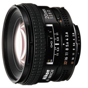 עדשה Nikon AF Nikkor 20mm f/2.8D