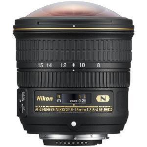 עדשה Nikon Fisheye NIKKOR 8-15mm f/3.5-4.5E ED