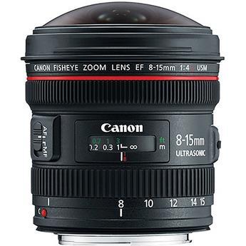עדשה Canon EF 8-15mm f4L Fisheye USM