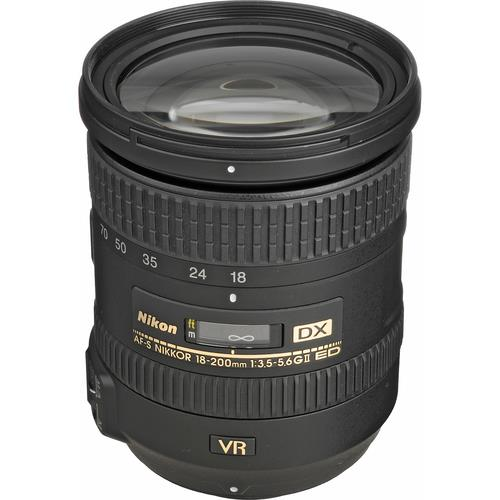 עדשה Nikon AF-S DX VR II Zoom-Nikkor 18-200mm f/3.5-5.6G IF-ED