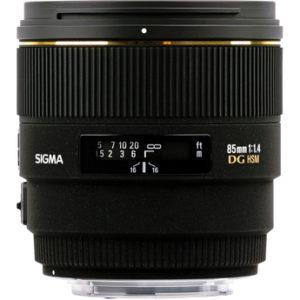 עדשה Sigma 85mm f/1.4 ex dg hsm למצלמות Nikon