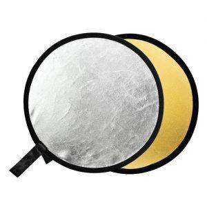 """רפלקטור דו צדדי 80 ס""""מ godox rft-01-110110 2 in 1 gold /silver reflector"""