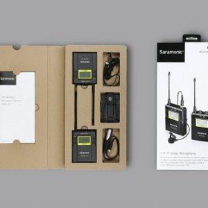 משדר ומקלט אלחוטיים עם מיקרופון Saramonic UwMic10 RX10+TX10