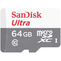 כרטיס זיכרון sandisk ultra micro sd 64 gb 80mb/s x667