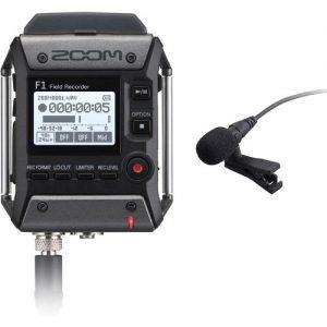 מקליט סאונד נייד עם מיקרופון דש Zoom F1 Recorder + Lav Mic