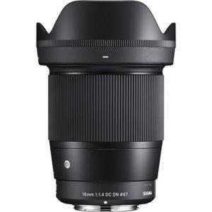 עדשה Sigma 16mm f/1.4 dc hsm למצלמות Sony