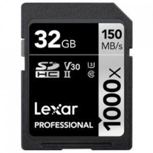 כרטיס זיכרון Lexar Professional 32GB 1000X 150MBs